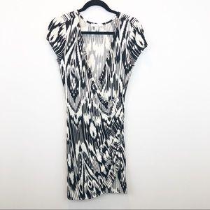 Lucy & Laurel Faux Wrap Ikat Print Dress NWOT